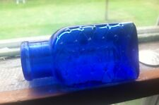 Cobalt Lattice Poison Triangular Bottle