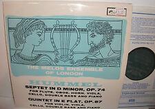 SOL 290 Hummel Septet & Quintet The Melos Ensemble London