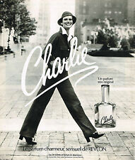 PUBLICITE ADVERTISING 084  1975  REVLON  parfum CHARLIE