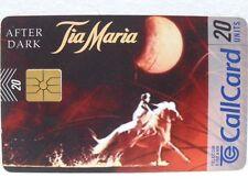 "SCHEDA IRLANDA-""AFTER DARK-TIA MARIA""-Call Card-20 units-TELECOM EIREANN"