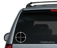 Crosshair Die cut Vinyl Decal - Logo Car Window Sticker phone Car Rifle Gun 2a