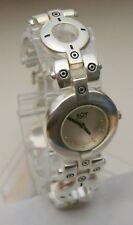 Rare Women's Boy London Chunky Metal Designer Bracelet Watch New Nos 1990s