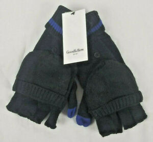 Goodfellow and Co. Blue and Black Fingerless Gloves New One Size Fits All