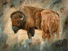 Ceramic Tile Mural Kitchen Backsplash Winkler Bison Buffalo Animal Art RW-KW007