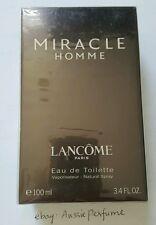 Lancome Miracle Pour Homme 100ml/ 3.4oz Men's Perfume EDT Spray Sealed Box Rare