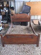 Antique Solid Wood Full Size Bed CIRCA 1878 LOCAL Pickup Only😃