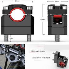Adjustable Handle 22mm/28mm Motorcycle Handlebar Riser Black CNC Aluminum Alloy