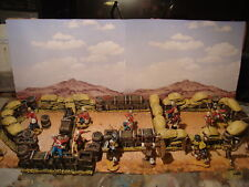 T7  PAINTED LARGE JOBLOT RORKE'S DRIFT ZULU WAR  BOXES, SANDBAGS for 1.32 scale