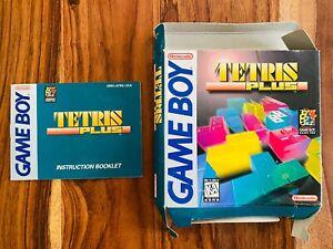 🔥Tetris Plus Nintendo Gameboy GB Box and Manual ONLY