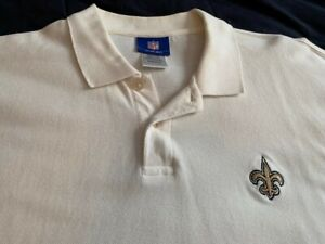 NFL men's Adidas XL New Orleans Saints golf, polo shirt