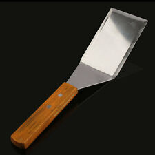 Scraper Pancake Turner Scoop Wooden Handle Stainless Steel Alloy Spatula Sharp
