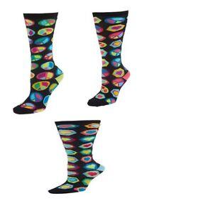 littlemismatched Crazy Coordinate 3 Multi Color Sockadelic Knee Highs Size 9-11