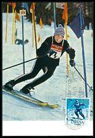 SPAIN MK 1964 OLYMPICS OLYMPIA SKI MAXIMUMKARTE CARTE MAXIMUM CARD MC CM bf99