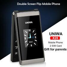 "Unlocked2.8"" Folding Flip Dual Sim Free Basic Simple Mobile Phone For Elderly EU"