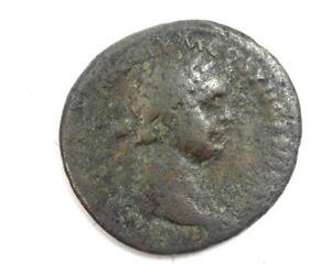 DOMITIAN 81-96 AD AE AS VERY GOOD REVERSE VIRTVS