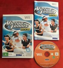 Virtua Tennis 2009 Game for Nintendo Wii / Wii U PAL complete in box with manual