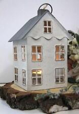 "8"" TALL HANGING METAL WHITE DUTCH LANTERN HOUSE TEA LIGHT CANDLE HOLDER WEDDING"