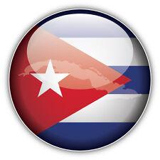 Cuba Map Flag Glossy Label Car Bumper Sticker Decal 5'' x 5''