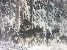 NEW  1000 BITS & PIECES STUDIO PUZZLE CRYSTAL FOREST WOLF WOLVES SNOW   42106