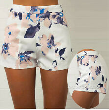 Ladies Summer Shorts High Waist Womens Hot Pants Beach Casual Floral Shorts New