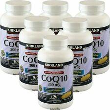 6 x Kirkland Signature CoQ10 300mg 100 Softgels, Heart Support, Maximum Potency