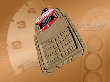 DICKIES FRONT RUBBER FLOOR MAT TAN FOR 2000-2004 IMPORTS CAR TRUCK SUV VAN