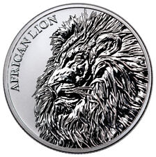 2018 Republic of Chad African Lion 1 oz Silver Fr5,000 Coin GEM BU SKU51641