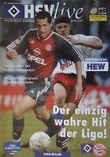 Programm 2001/02 HSV Hamburger SV - Bayern München