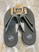 REEF Men's FLEX Sandals - RF002444 - Black/Silver - Size 12 - NWT