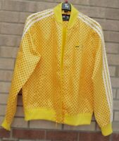 ADIDAS PHARRELL WILLIAMS YELLOW RED SPOTTED TREFOIL BOMBER TRACK JACKET COAT L