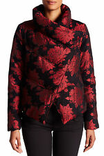 NWT $698 ALICE OLIVIA WENDEL FLORAL BROCADE DUCK DOWN PUFFER JACKET COAT SIZE S