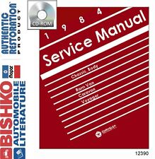 1984 Dodge Caravan Plymouth Voyager Shop Service Repair Manual DVD Engine OEM