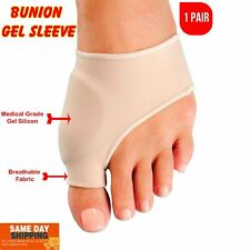 Foot Bunion Sleeve Big Toe Silicone Gel Pad Metatarsal Joint Pain Support