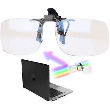 infactory Augenschonender Brillen-Clip, Blaulicht-Filter für Bildschirme, UV 400