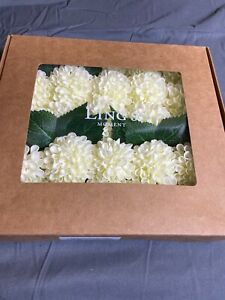 Ling's moment 25pcs Real-Looking Artificial Flowers Ivory Fake Dahlia Daisy