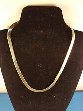 Silver Necklace 16 inch Thick Braided 3