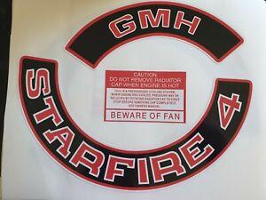 GMH STARFIRE 4  Holden Engine Decals Red