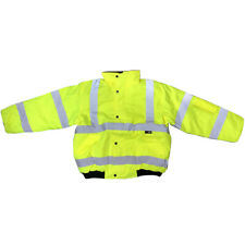 Supertouch Branded Small Yellow Hi-Vis High Visibility Bomber Jacket Coat