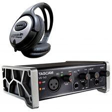 Tascam US-1x2 USB Audio-Interface + Kopfhörer