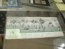 1949 Baltimore Colts Football Schedule Blotter with Real Football Scene AAFC