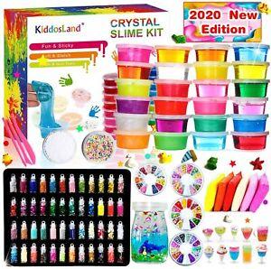 Fai da Te Fluffy Slime Kit 24 Colori Slime Kit 48 Glitter 108 pez ORIGINAL€27,50
