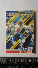 1984-85 Quebec Nordiques Hockey Pocket Schedule FRENCH O'Keefe Version MINTY