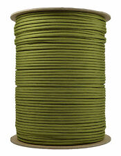Moss - 550 Paracord Rope 7 strand Parachute Cord - 1000 Foot Spool