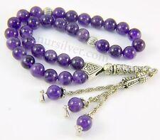 Amethyst stone prayer beads / worry beads / Tasbeeh / Tasbih /Masbaha / Rosary