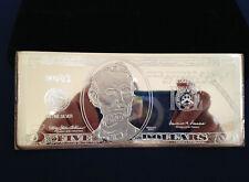 2001 Commemorative $5 Federal Reserve Note Proof Silver Art Bar  P2576