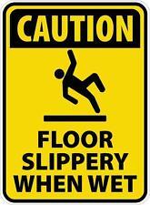 """""""SLIPPERY WHEN WET"""" WARNING STICKER, WEATHERPROOF, UV STABLE,"""
