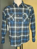 Rare Pendleton Lucky Brand Epic Shirt Plaid Western Pearl Snap Mens Size X-Small