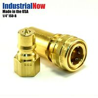"Quick Disconnect Couplers for Carpet Cleaning Extractor Wands Hose 1/4"" Brass"