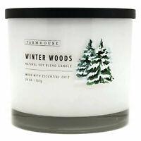 Scentsational Natural Soy Blend 26oz Cotton 3 Wick Candle Jar - Winter Woods