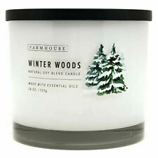 Scentsational Natural Soy Blend 26oz Cotton 3 Wick Candle Jar - Winter Woods